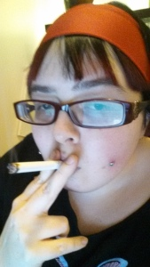 Ania Smoking A Joint